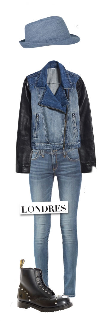 5 destinations pour 5 looks en jean, direction Londres