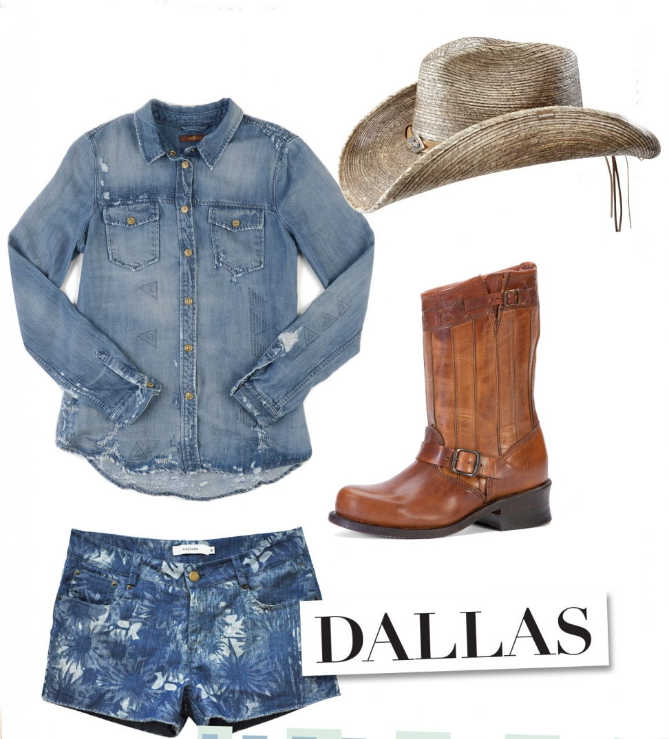 5 destinations pour 5 looks en jean, cow boys à Dallas