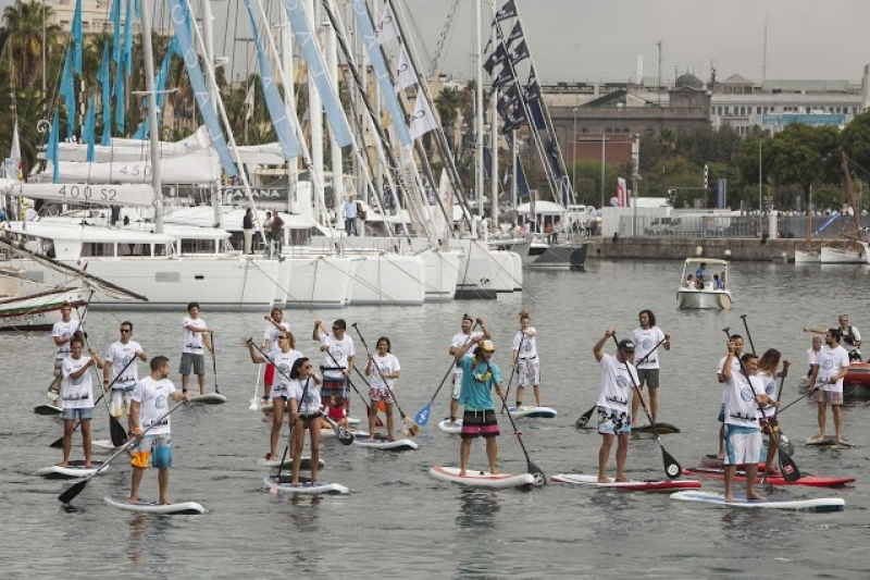 Cours de paddle au Salon de Barcelone