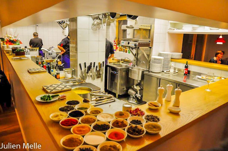 La cuisine ouverte de la Pente douce à Toulouse