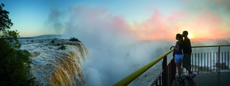 Vue sur les chutes d'Iguaçu !