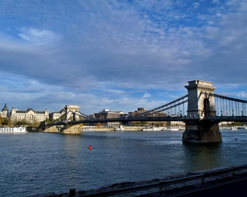Près du fleuve de Budapest