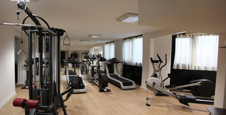 La salle de fitness de l'hôtel Palladia à Toulouse