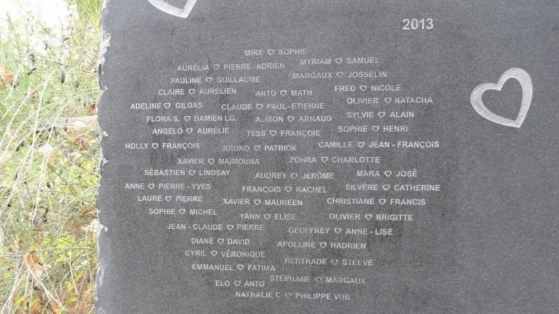 Conservatoire des amours : les noms des couples gravés à jamais