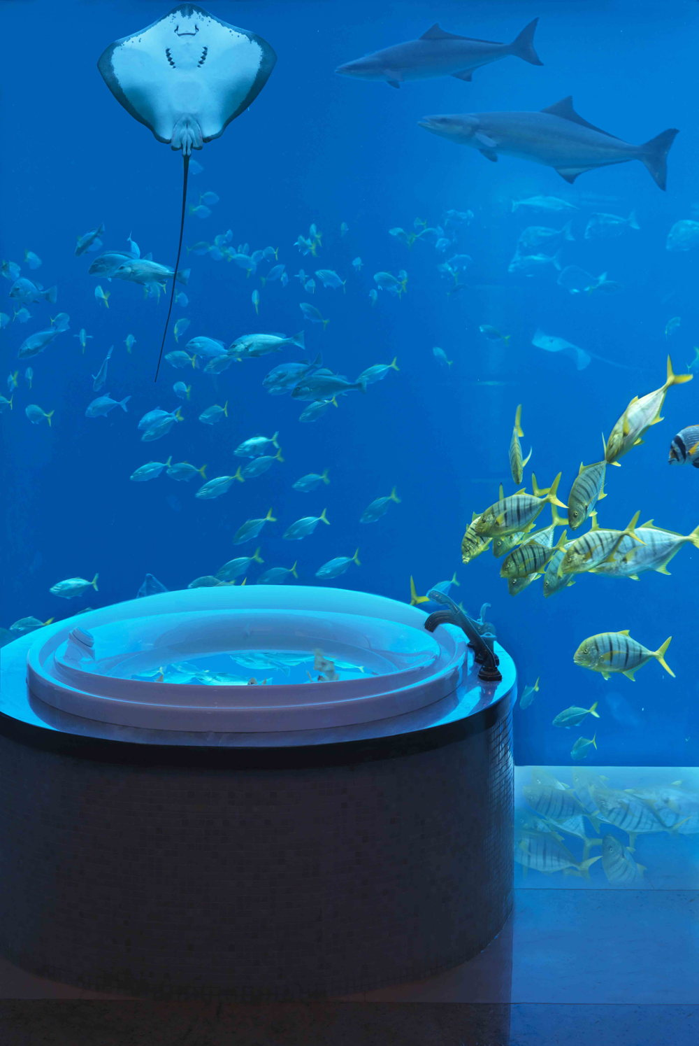 A l'Atlantis hotel, The Palm_Underwater Suites Bathroom