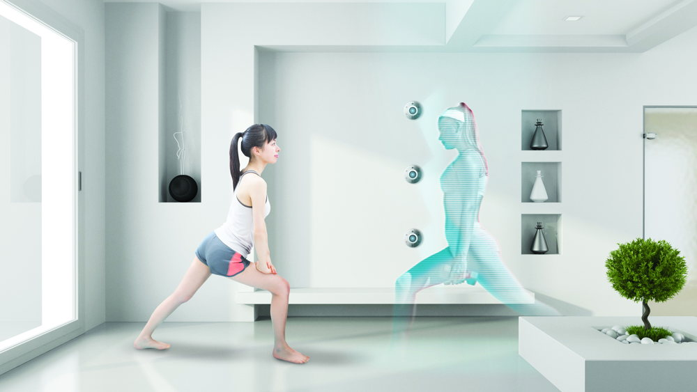 Hologramme coach sportif chambre d'hôtel futur - Skyscanner