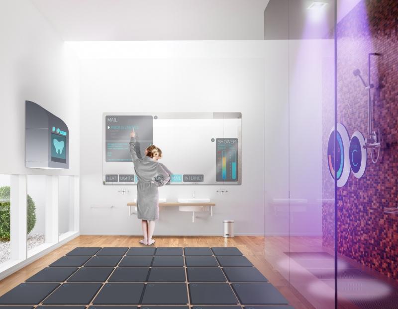 Salle de bain d'hôtel futur - Skyscanner