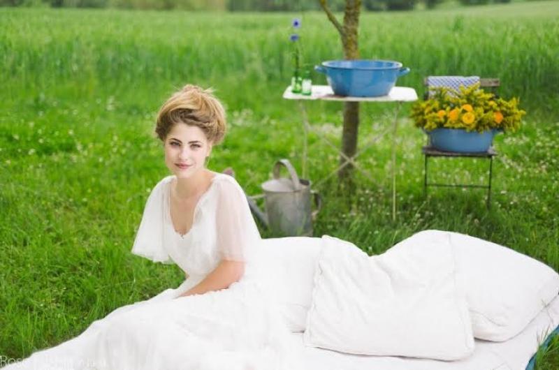 Une mariée pour un mariage très bohème