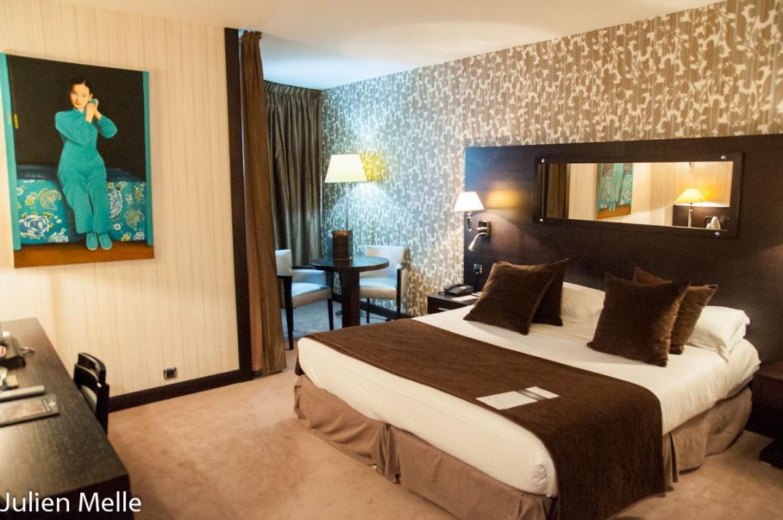 Une autre des chambres confortables de l'hôtel Palladia à Toulouse