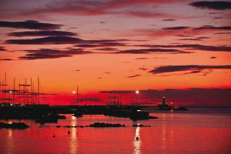 La Corse depuis Toulouse : coucher de soleil