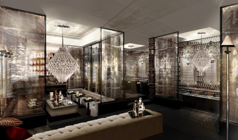 Les espaces communs du Baccarat hôtel à New York