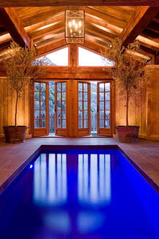 La piscine du Chalet Le Pélerin à Miroir de Sainte Foy Tarentaise