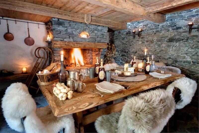 La salle à manger du Chalet Le Pélerin à Miroir de Sainte Foy Tarentaise