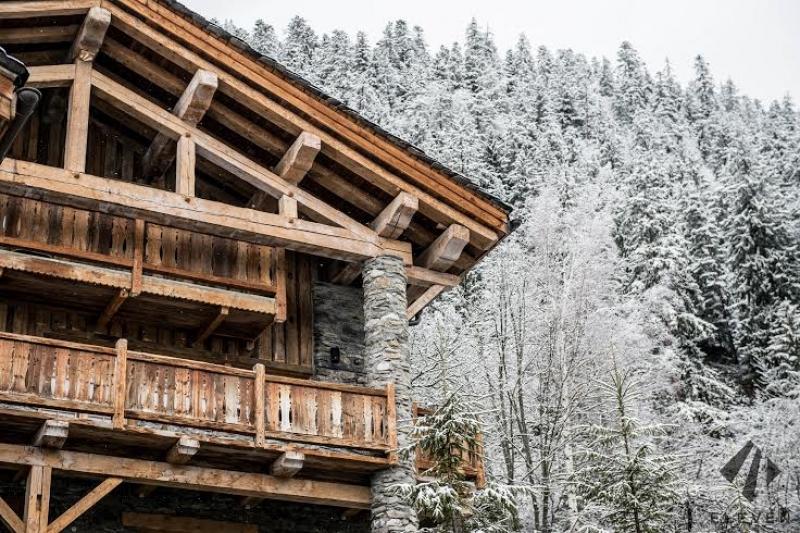 La neige au Chalet Le Pélerin à Miroir de Sainte Foy Tarentaise