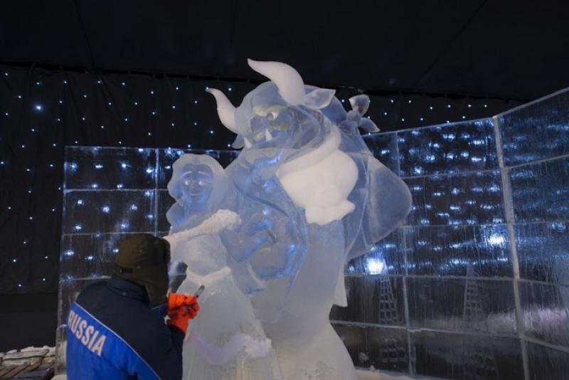 Les Sculptures de glace à Liège Anvers
