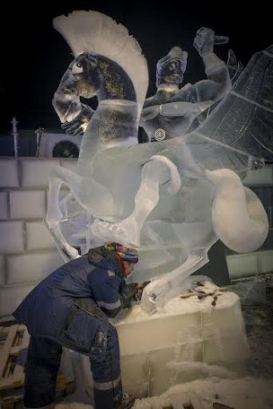 Dessiner et sculpter la glace à Liège Anvers