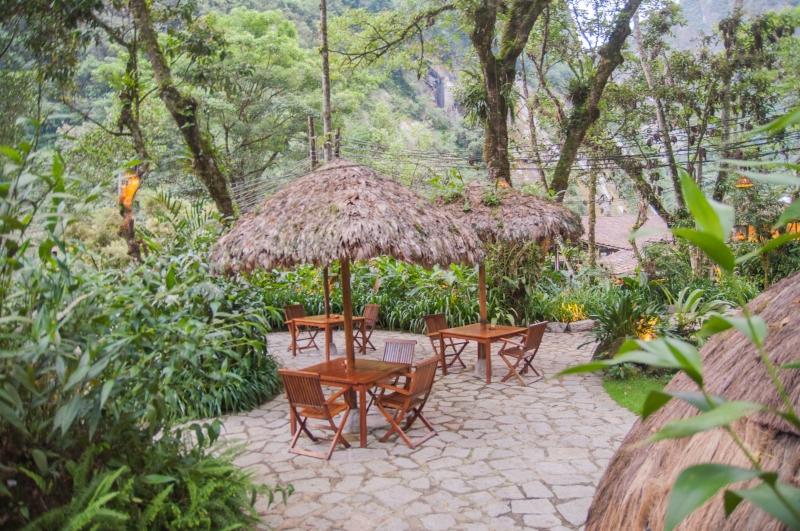Les terrasses à Inkaterra au Machu Picchu