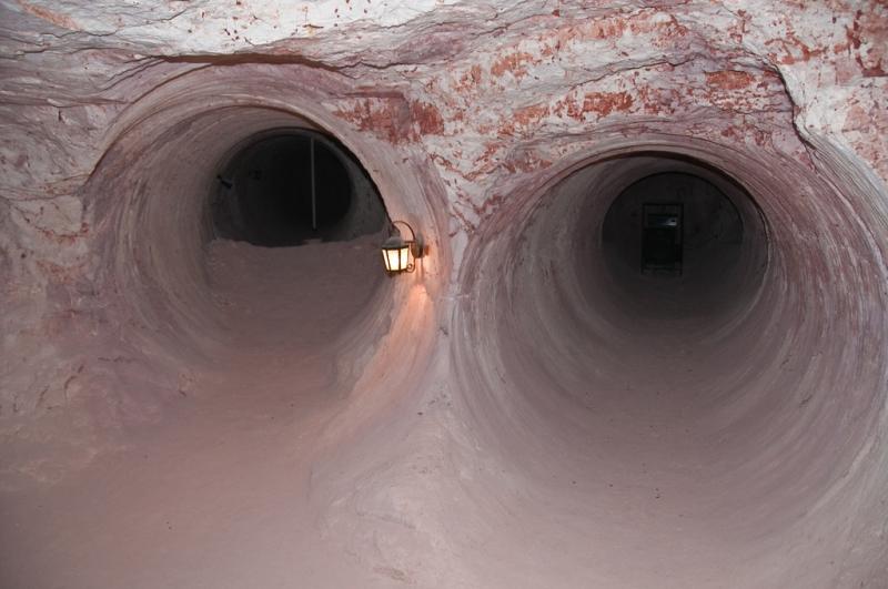 Dans les mines à Coober Pedy en Australie