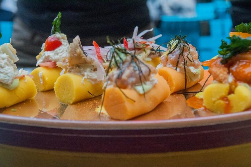 Délices marins à La cebicheria la Mar à Lima