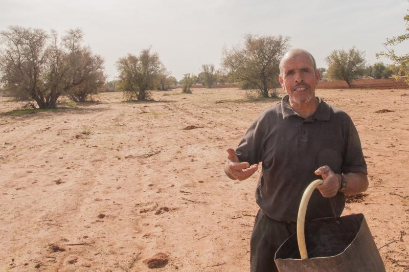 Un producteur d'huile d'argan au Maroc