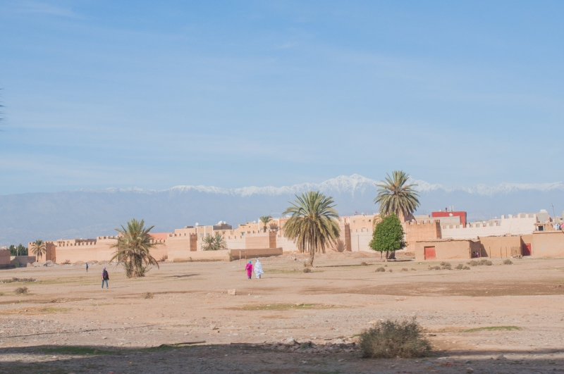 Vue depuis Chefchaouen au Maroc