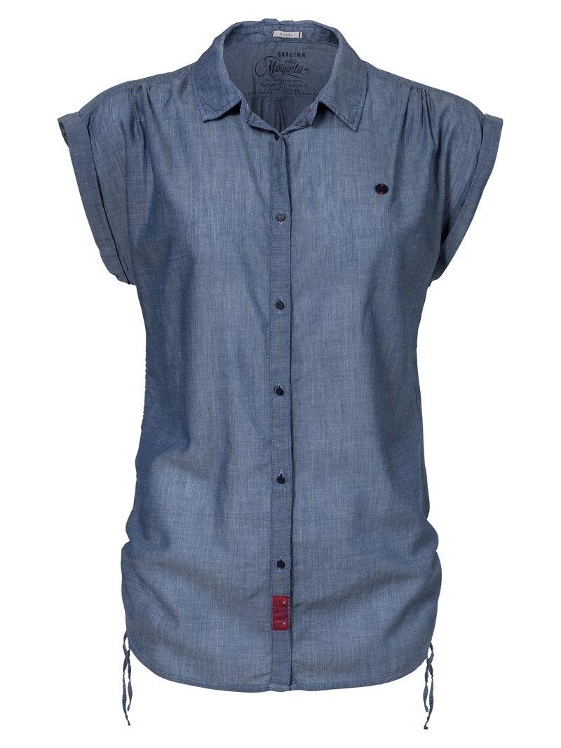 La chemise manche courte en jean