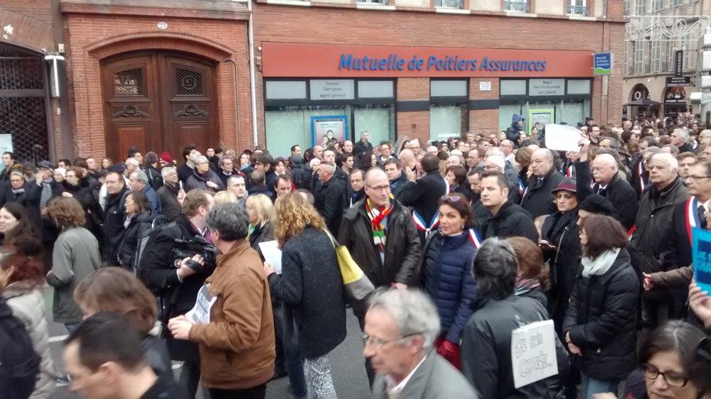 Manifestation de soutien à Charlie à Toulouse