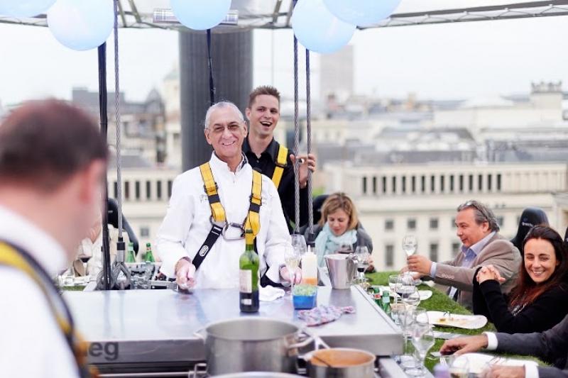 Les chefs sont également présents dans le ciel de Bruxelles