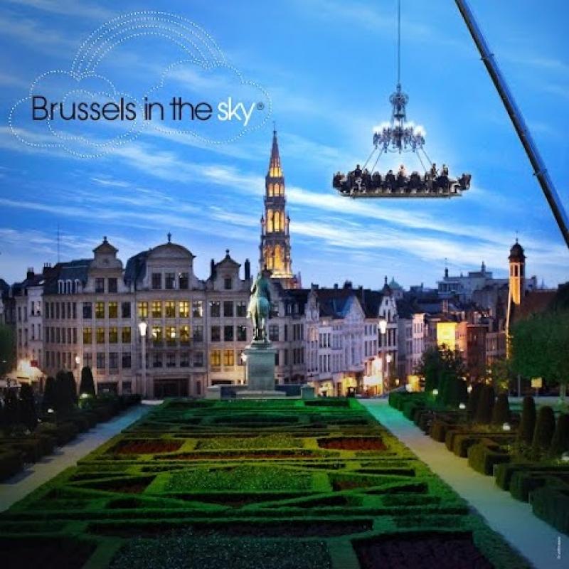 Manger dans le ciel de Bruxelles