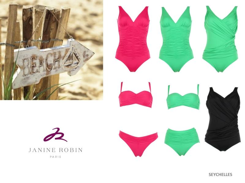 Des bikinis colorés avec Janine Robin