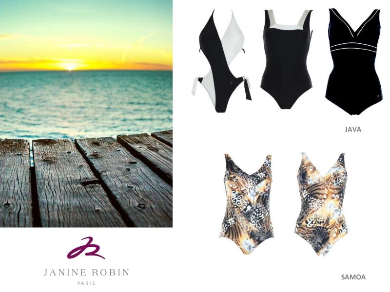Impression léopard pour Janine Robin et ses maillots de bain