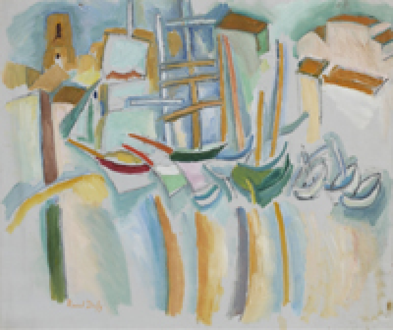Un des tableaux exposées lors de l'Exposition Raoul Dufy au musée Thyssen de Madrid