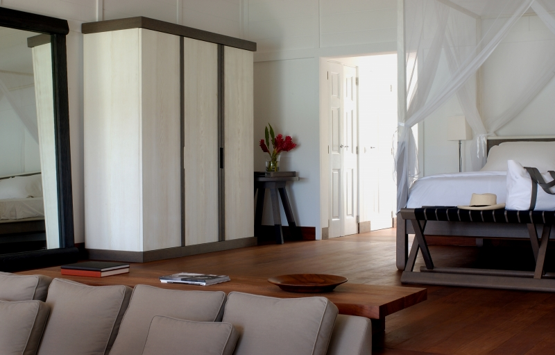 Dans une des suites présidentielles de l'hôtel Sereno à Saint Barthelemy