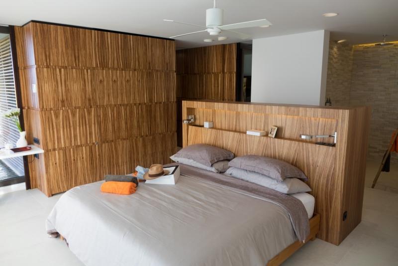 La chambre de la villa Bel Amour à Saint Barthelemy