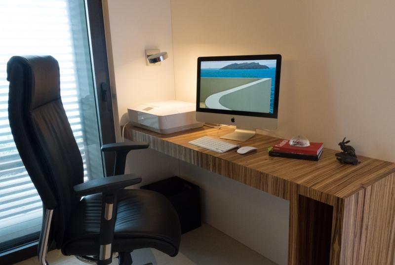 Un bureau de la villa Bel Amour à Saint Barthelemy