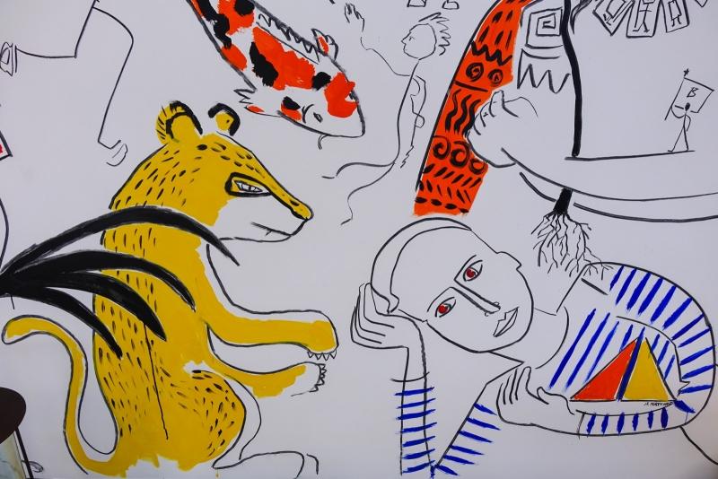 Les croquis d'inspiration du styliste Jean Charles de Castelbajac