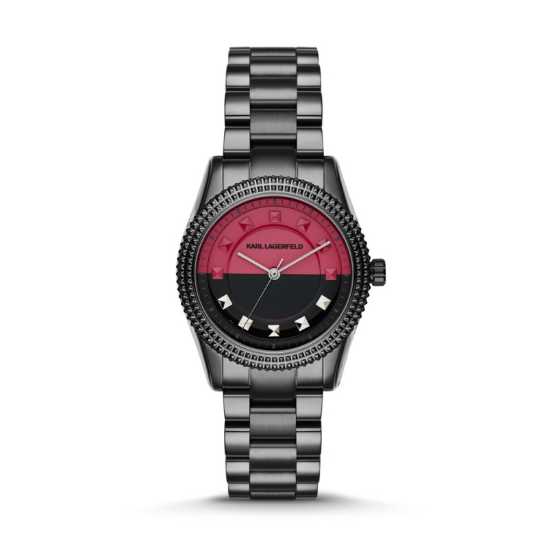 Montre bicolore rose de Karl Lagerfeld