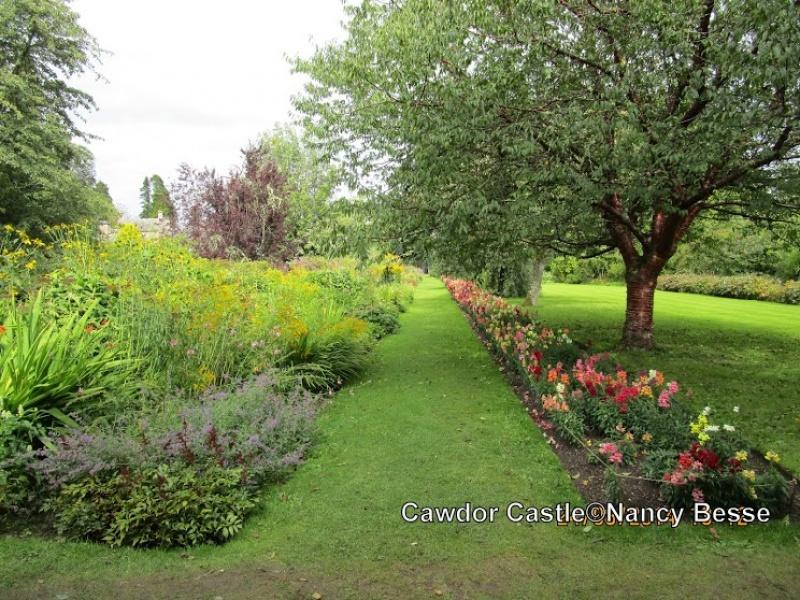 Dans le jardin botanique à Cawdor Castle en Écosse