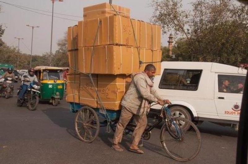 On roule chargé en Inde