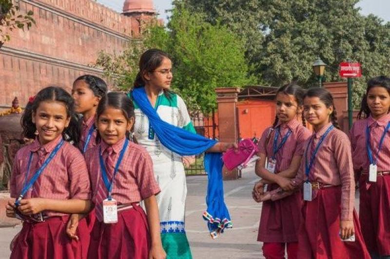 Des enfants scolarisés à New Delhi