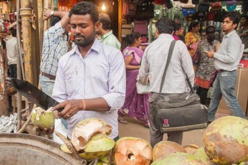 Les commerçants à la volée dans New Delhi en Inde