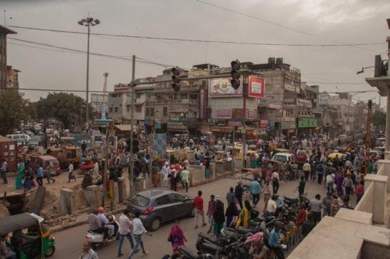 Vue aérienne de New Delhi en Inde