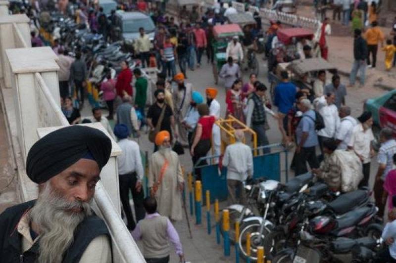 Dans une mosquée Sikh.