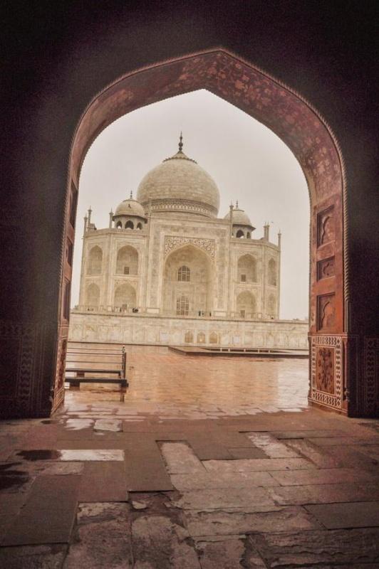 Le Taj Mahal à Agra Visuel : Christel Caulet