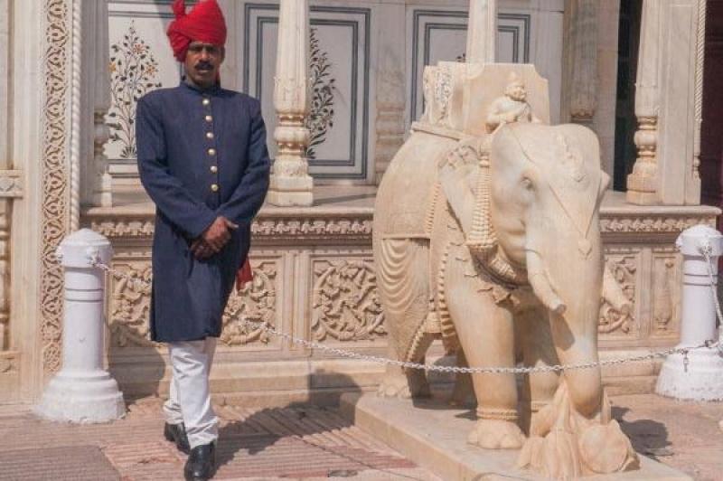 L'entrée au palais impérial de Jaîpur au Rajasthan en Inde