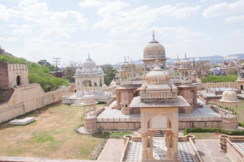 Dans le temple Birla Mandir à Jaïpur
