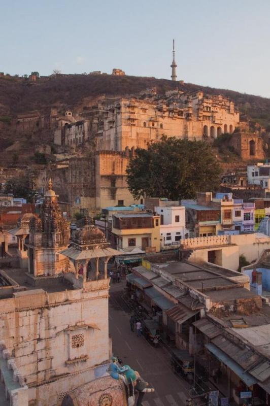Vue sur la ville de Bundi en Inde !