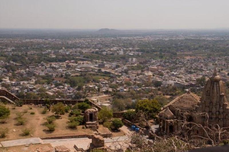 La ville de Chittorgarh en Inde