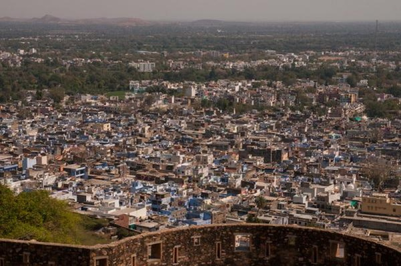 La ville est surplombée par le fort de Chittorgarh en Inde