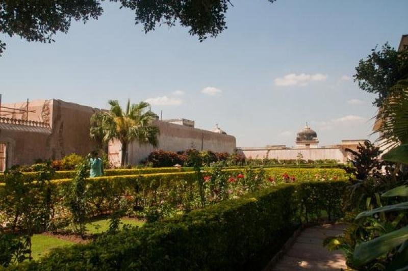 Les jardins des temples du fort de Chittorgarh
